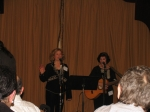 Carol Demas and Paula Rosen Janis singing from The Magic Garden show